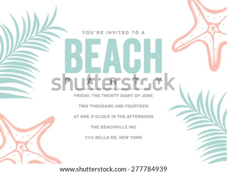 beach Party Invitation Images RoyaltyFree Images – Beach Party Invitation