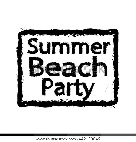 Summer beach party typography Illustration design
