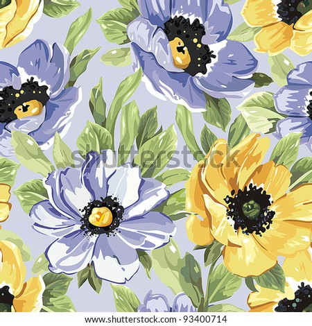 Summer Beautiful floral seamless pattern for fresh design. Elegance vector illustration. - stock vector