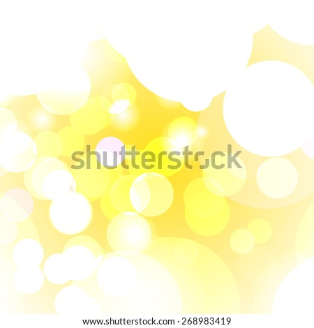 Summer blurred bokeh lights for commercial. Vector illustration. - stock vector