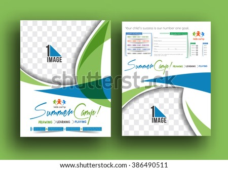 Summer Camp Flyer & Poster Template - stock vector