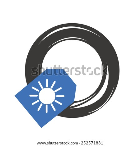 Summer car tire - stock vector