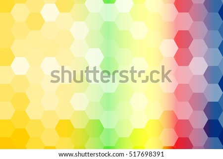 summer color geometric background of hexagon. Vector illustration. Polygonal patterns for your presentations, business