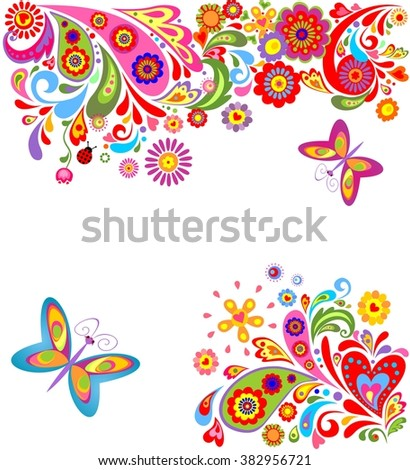 Summer colorful background - stock vector