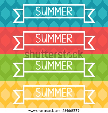 Summer colorful background with text. Vector illustration - stock vector
