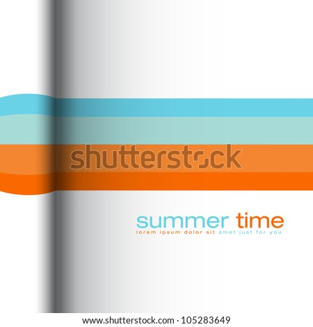 Summer colors - abstract vector background - stock vector