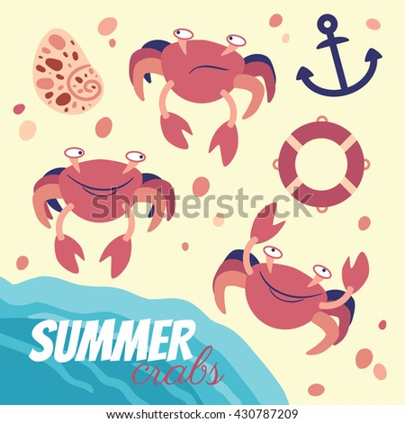 Summer crabs set