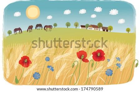 Summer day - stock vector