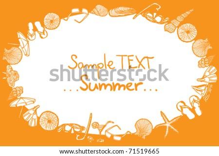 Summer design - vector illustration - stock vector