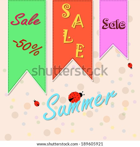 Summer discount labels.Eps 10 - stock vector