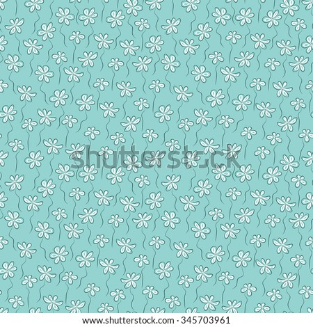 Summer floral background. Tiny flowers - Vector seamless pattern - stock vector