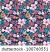 summer floral garden seamless pattern - stock photo