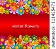 summer flower banner - stock vector