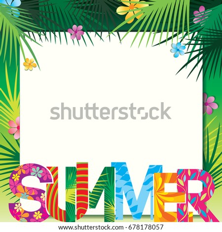 Summer Frame Template Design Pattern Typography Stock Vector HD ...
