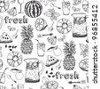 Summer freshness background - stock vector
