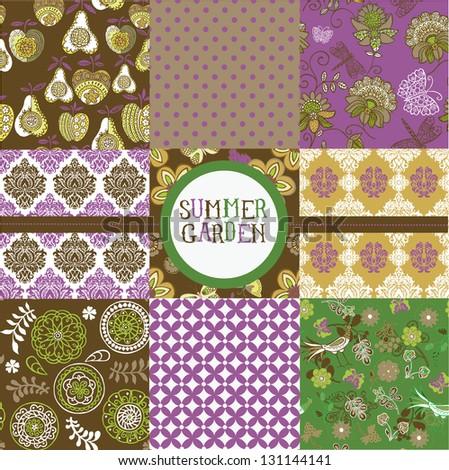 Summer Garden Collection - stock vector