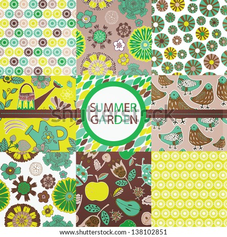 Summer Garden Collection - stock vector
