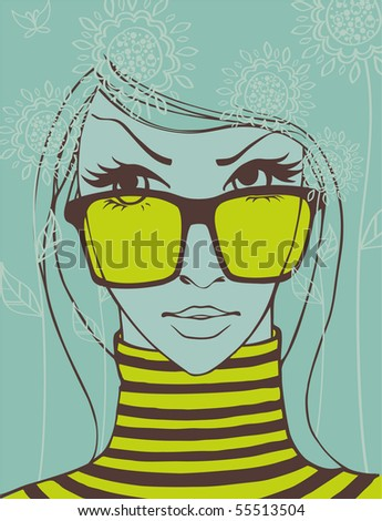 Summer girl - stock vector