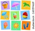 summer graphics vector - stock vector
