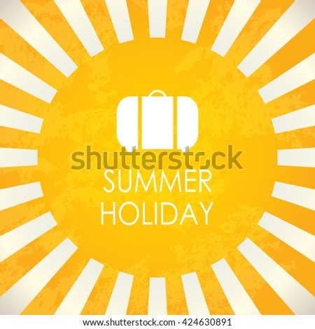 Summer holiday, abstract vector background - stock vector