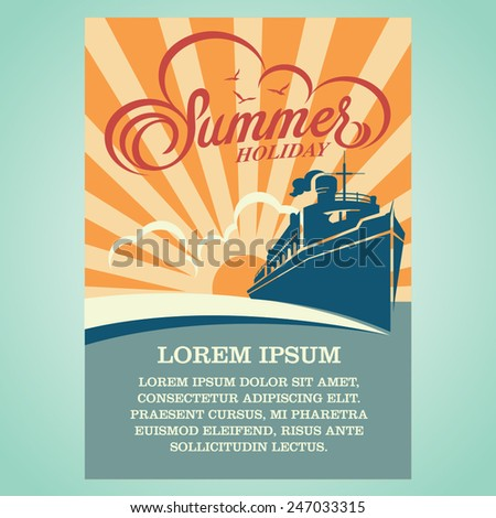 summer holiday advertising design template. - stock vector