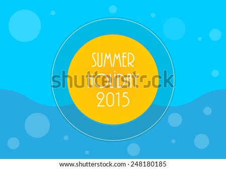 Summer holiday background, Vector illustration, eps10 - stock vector