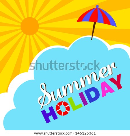 Summer holiday sunny background - stock vector
