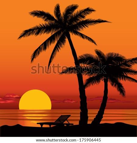 evening horizon clip art