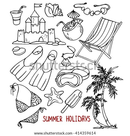 Summer Holidays Sketch Drawing Set