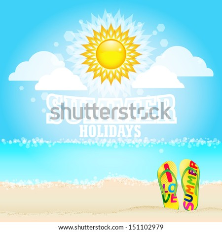 Summer Holidays / Summer holidays poster / Summer holiday vector background.  - stock vector