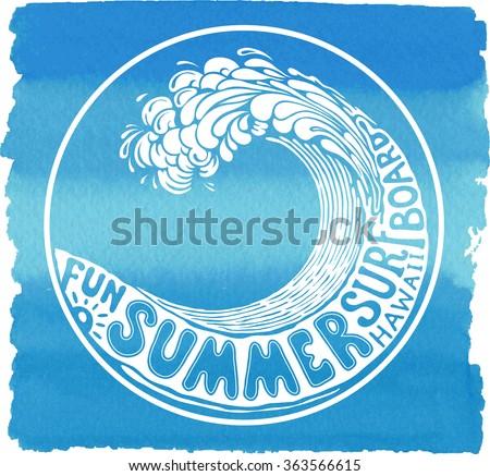 Summer holidays vector illustration - stock vector