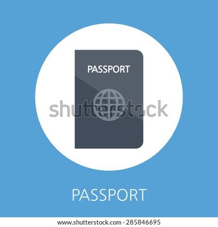 Summer holidays vector illustration,flat design business and passport  concept - stock vector