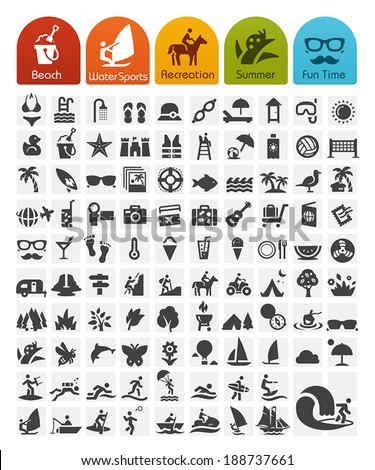 Summer Icon Bulk series - stock vector