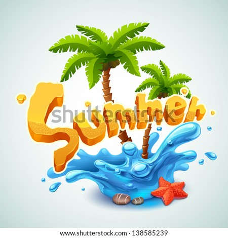 Summer illustration - stock vector