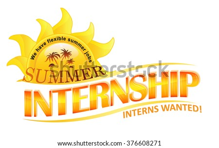 Summer Internship; Interns wanted label for recruitment companies.