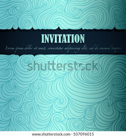 Summer invitation made of fancy paper, vector eps8 illustration - stock vector