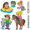 Summer kids activities collection - vector illustration. - stock vector