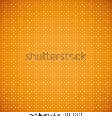 summer orange and white with polka dot pattern background(vector)  - stock vector