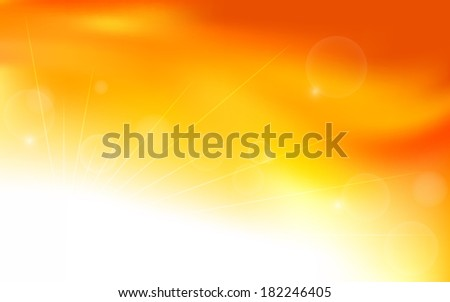 summer orange background with bokeh (vector)
