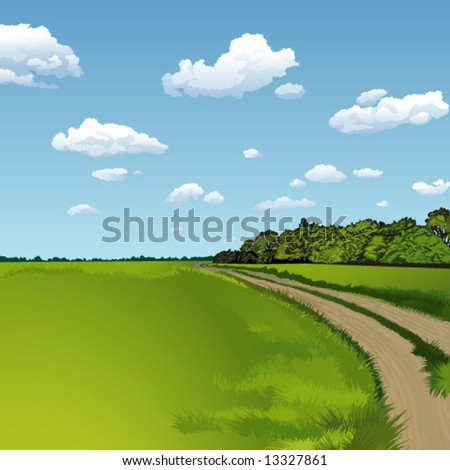summer outdoor - stock vector