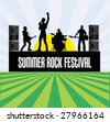Summer Rock Festival Flyer - stock vector
