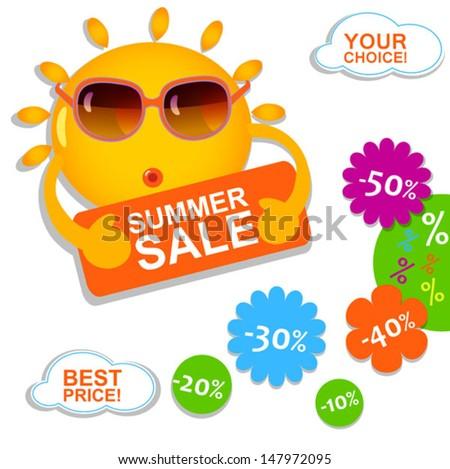 summer sale - stock vector