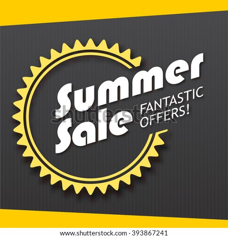 Summer sale and special offer banner. Great bright background for your offers, promotional posters, advertising shopping flyers and discount banners.  - stock vector