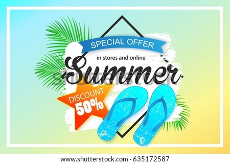 Summer Sale Background Design For Banner Flyer Wallpaper Promotional Discount Shop Materials