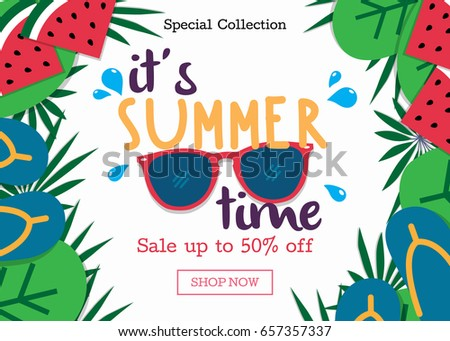 Summer Sale Background Layout For Banners Wallpaper Flyers Invitation Posters Brochure