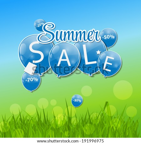Summer Sale Concept. Vector Illustration. - stock vector