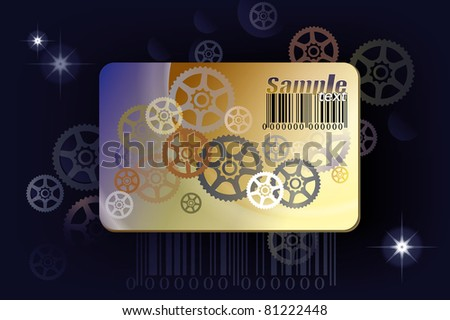 Summer sale discount card - stock vector