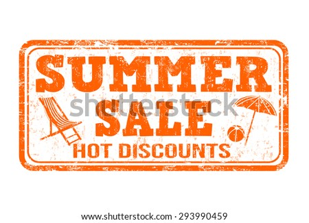 Summer sale grunge rubber stamp on white background, vector illustration - stock vector