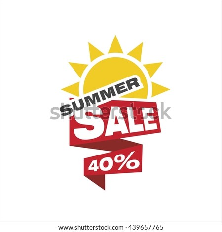 Summer sale 40 percent - stock vector