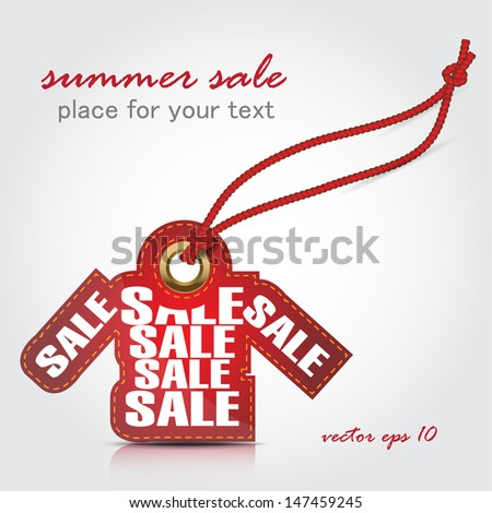 summer sale tag - stock vector